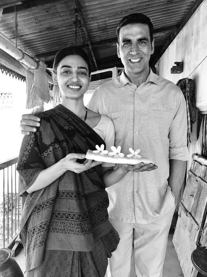 Radhika Apte and Akshay Kumar in Padman