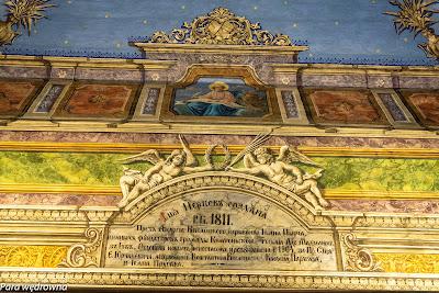 Pamiątka po remoncie z 1811 roku, wykonana w 1904 r.