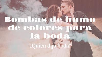 Bombas de humo de colores para la boda