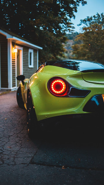 McLaren, Yellow Sports Car, Rear view