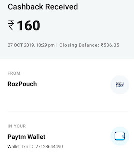 Rojdhan Earning App payment proof