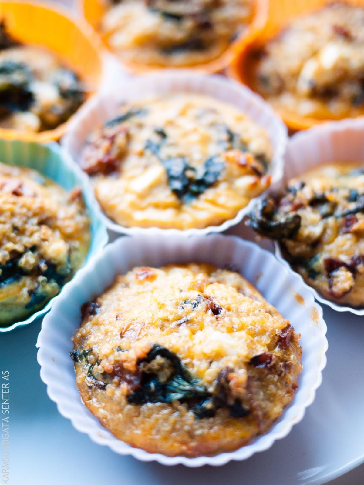 Spinatmuffins med fetaost