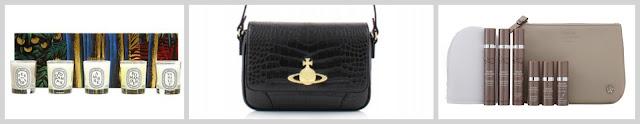 christmas gift guide for her diptique candle set vivienne westwood handbag sarah chapman skincare set