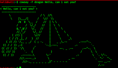dragon in cowsay