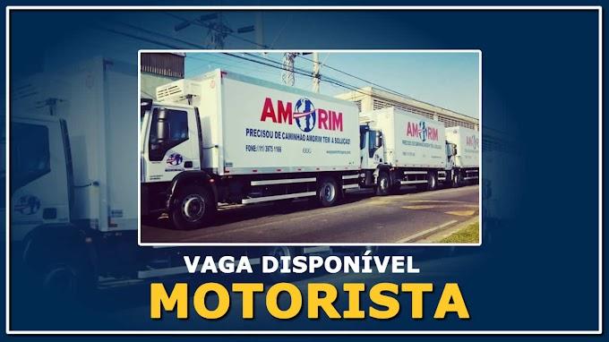 Grupo Amorim Transportes abre vagas para Motorista Truck