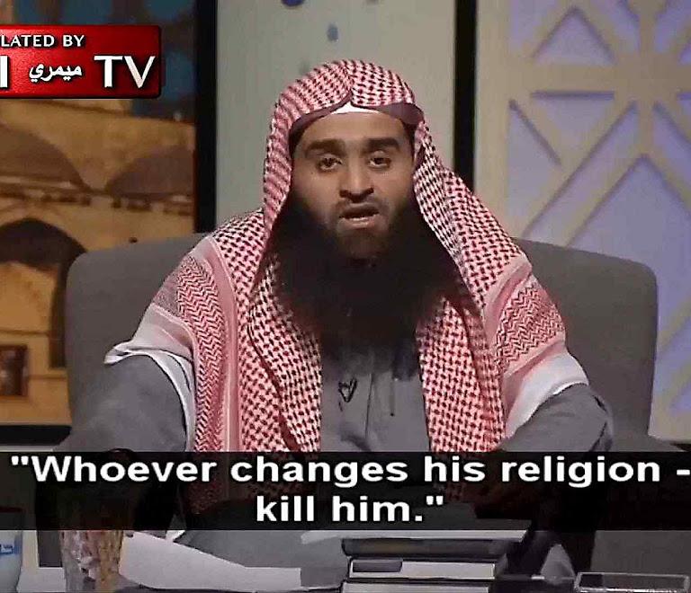 Clérigo saudita Maomé manda matar quem deixa o Islã