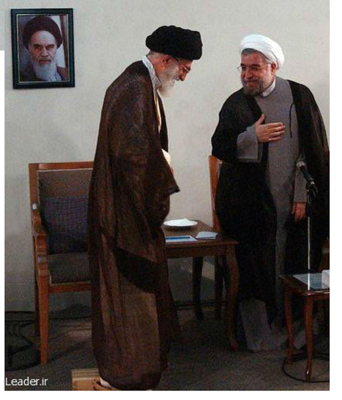 دو نما از حسن روحانی: محمو احمدی نژاد جیمز باند نظام اسلامی منوچهر فریدون از