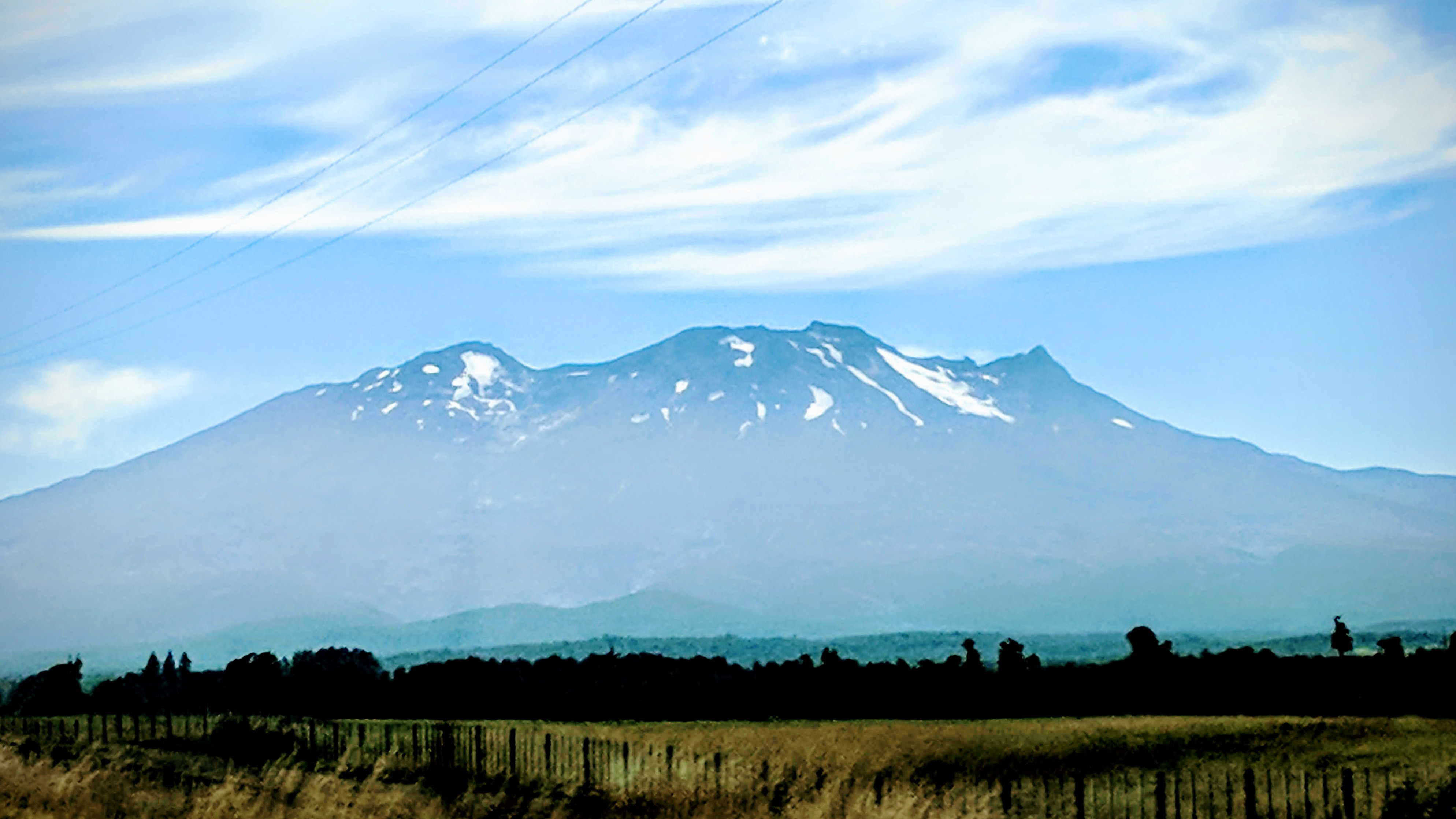 Mt Ruapehu as seen from State Highway 4.