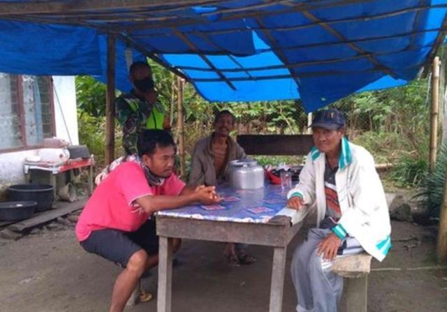 Gebyar Gakplin Demi Cegah Penyebaran Covid-19 Dilakukan Personel Jajaran Kodim 0207/Simalungun