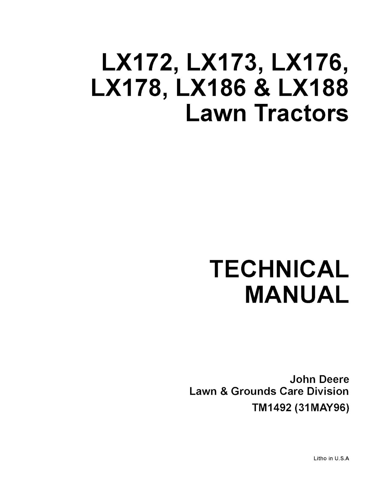 John Deere LX40 Manual