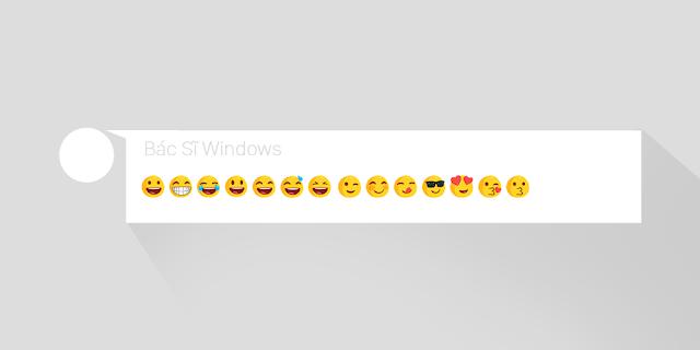 các icon emoji tổng hợp cho khung bình luận