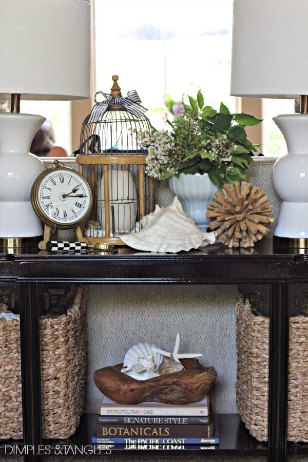 MY NEW SOFA TABLE STYLED 3 WAYS - Dimples and Tangles