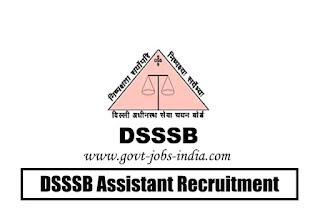 DSSSB Assistant Recruitment 2020