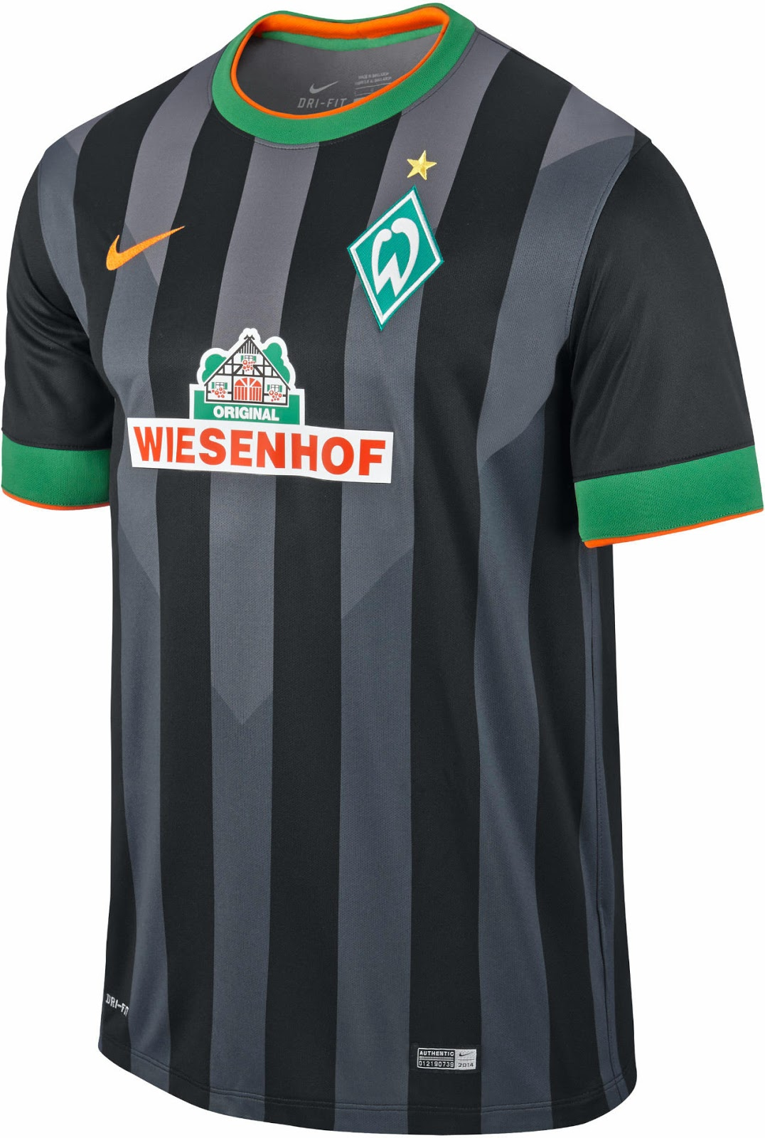 New Werder Bremen 14-15 Home And Away Kits Released