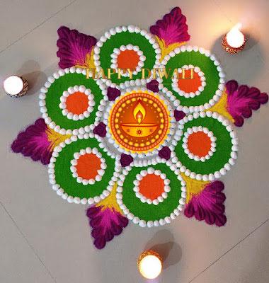 दिवाली के लिए रंगोली डिज़ाइन  Diwali Rangoli design photo
