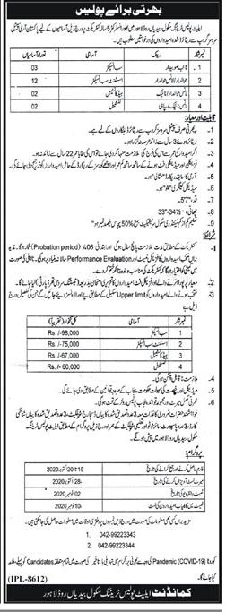 Elite Police Force Latest Jobs 2020 Advertisement in Pakistan Jobs 2021