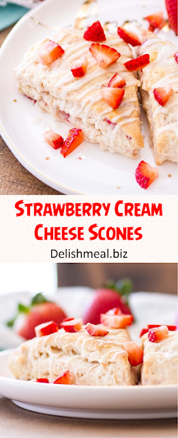 Strawberry Cream Cheese Scones