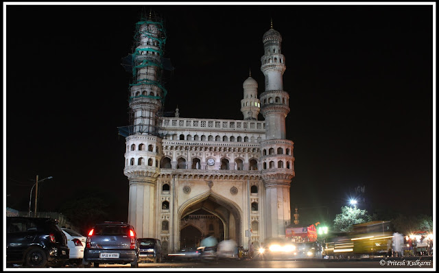 Charminar at night