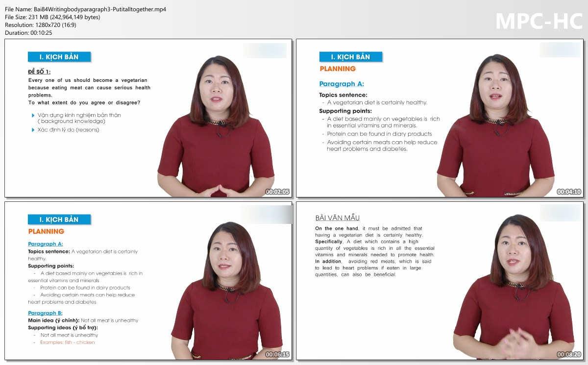 Tài liệu và Video học IELTS nền tảng 5.0 phần 2 (Ngữ pháp - Viết - Nói)