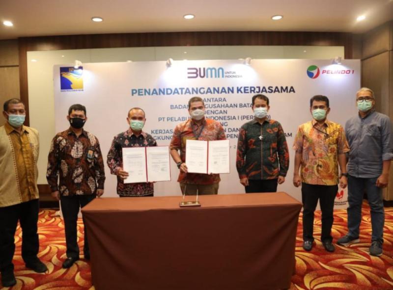 Penandatanganan Perjanjian Kerja Sama antara BP Batam dengan PT Pelindo I Persero