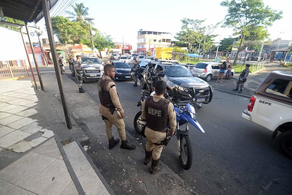 PM auxiliou fiscalização em Salvador — Foto: Jefferson Peixoto/Prefeitura de Salvador