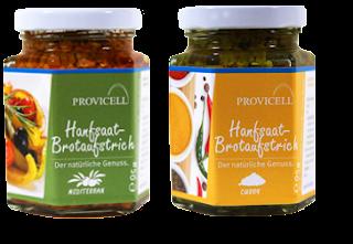 Provicell Hanfsaat-Brotaufstrich Curry & Mediterran