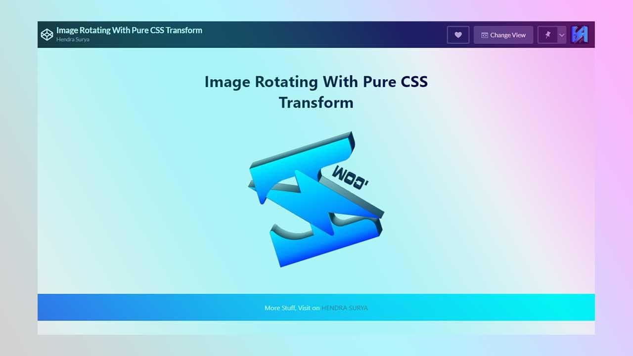 Membuat Animasi Gambar Berputar (Pure CSS Only)