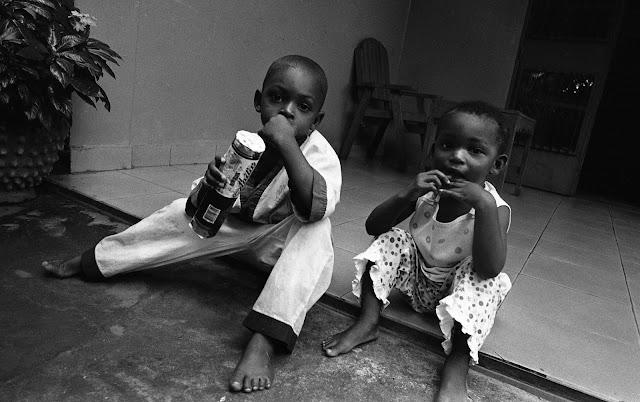 Les enfants de Moussa à la maison