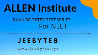 Allen Rank Booster Test Series For NEET