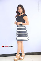 Actress Mi Rathod Pos Black Short Dress at Howrah Bridge Movie Press Meet  0036.JPG