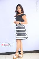 Actress Mi Rathod Pos Black Short Dress at Howrah Bridge Movie Press Meet  0036.JPG