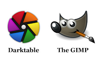 Freeware The GIMP and Darktable logos side by side