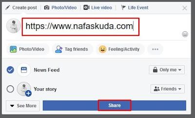 Membuat Postingan di Facebook