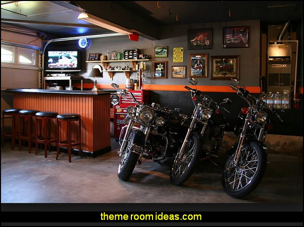 Harley Davidson Man Cave Decorating 604x450 Pixels