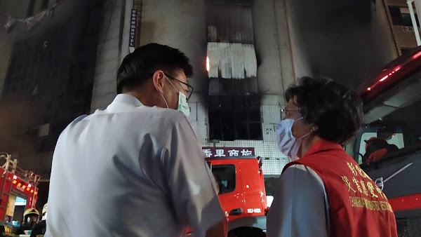 彰化喬友大廈火警 防疫旅館內人員平安轉移安置