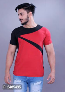 New Self Design Cotton Men's T-Shirt