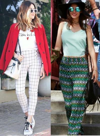 Flavia Desgranges, Victoria Justice, Como usar calça estampada