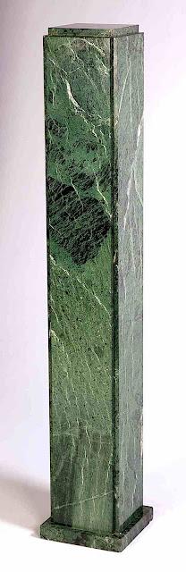 a 1930 green marble pillar