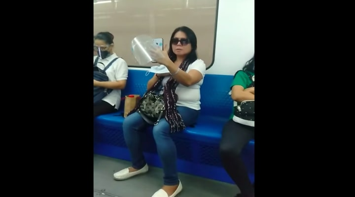Woman taking selfie may face charges MRT