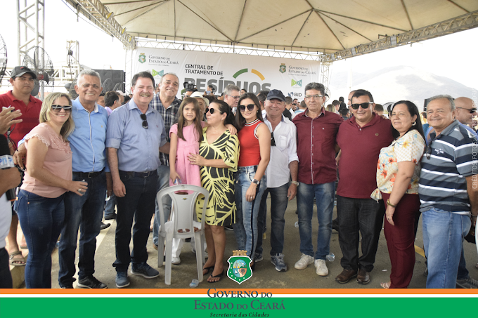 Prefeito Elmo Aguiar e sua comitiva participam da inauguração da Central de Tratamento de Resíduos da Região Metropolitana de Sobral, que atenderá 17 municípios da região Vale do Acaraú
