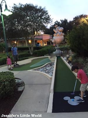 Playing mini golf at Disney World