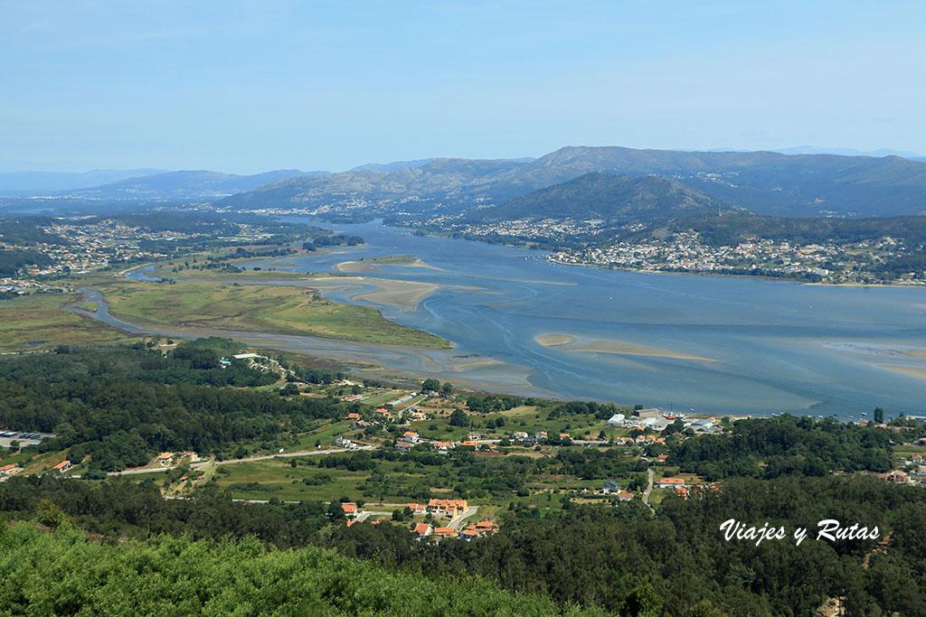 Vistas desde el Monte de Santa Tecla, A Guarda