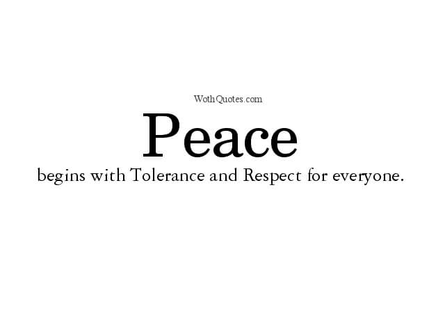 Tolerance Quotes and Sayings
