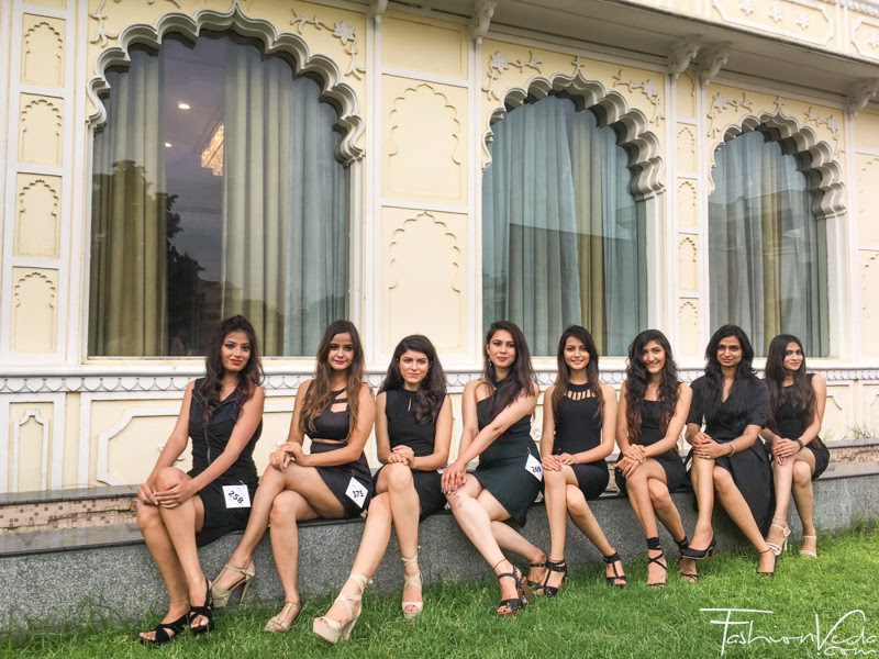 26 Finalists of Elite Miss Rajasthan 2018.