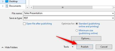 Cara Menyimpan Presentasi Microsoft PowerPoint Menjadi File PDF