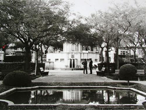 Jardim Carlos Anjos, Monte Estoril. Nesta foto, de César Cardoso, vê-se parte de um dos aparelhos da estação metereológica