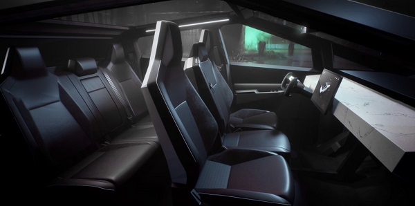 Interior Tesla Cybertruck