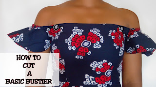 a tutorial on how to cut a simple bustier