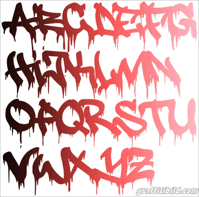 Graffiti schrift abc, graffiti alphabet a-z