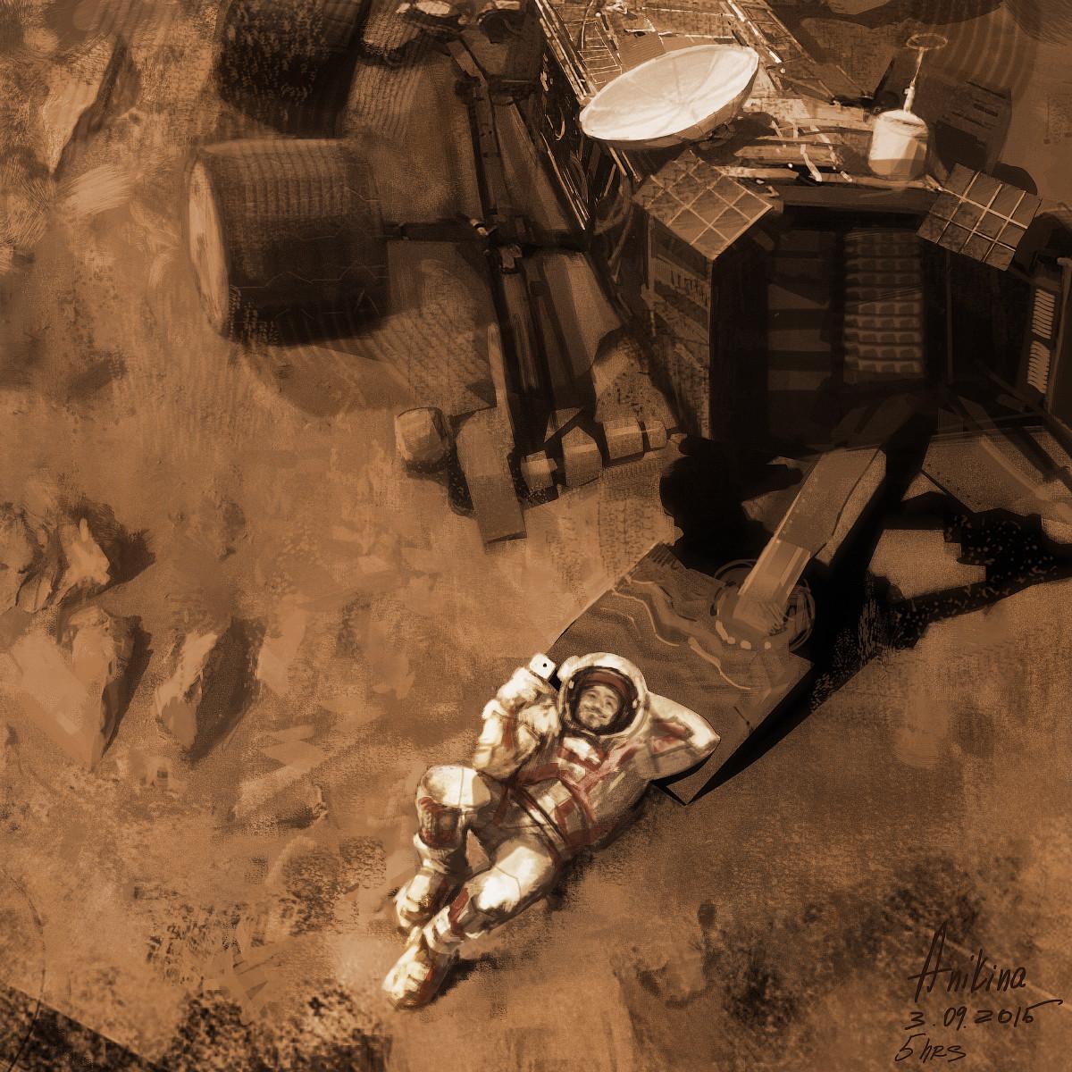 Martian selfie by Anna Anikina